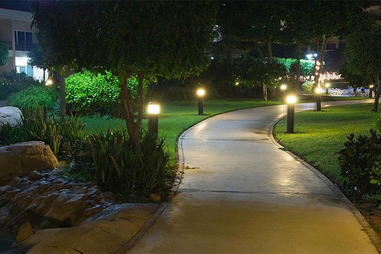 Hotel Peyzaj ve Bahçe Aydınlatma Örnekleri