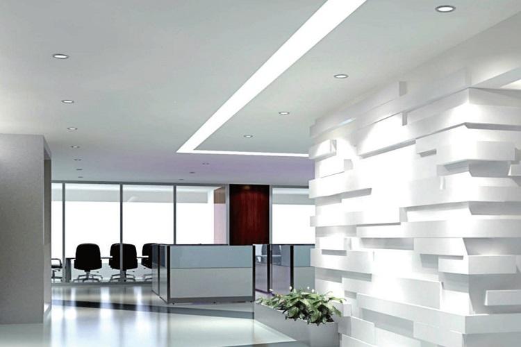 Lineer Sıva Altı Ofis Aydınlatmaları Örneği