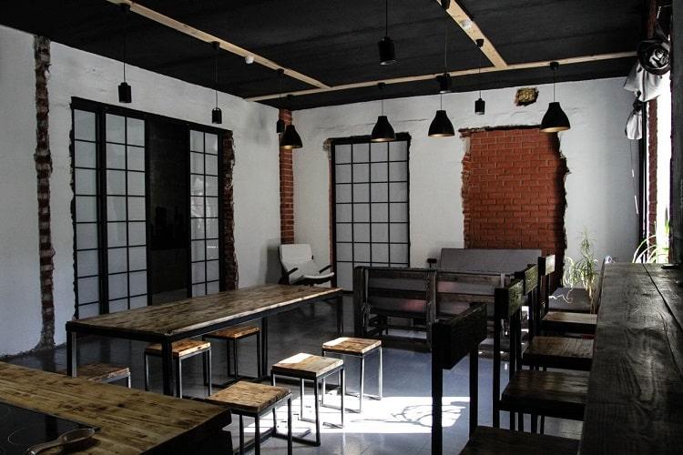 Restoran ve Cafe Dekoratif Aydınlatma Örneği