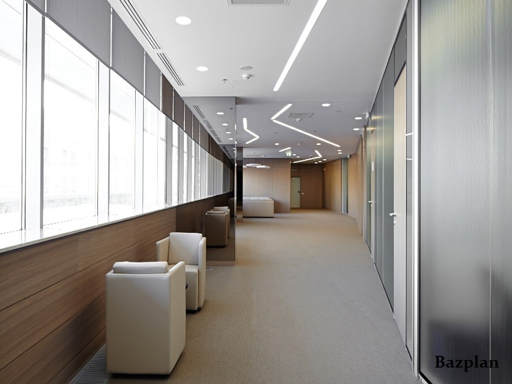 Bazplan Hastane Oturma - Dinlenme Aydınlatma Örnek Projesi Gömme Lineer - Sıva Altı Downlight-min