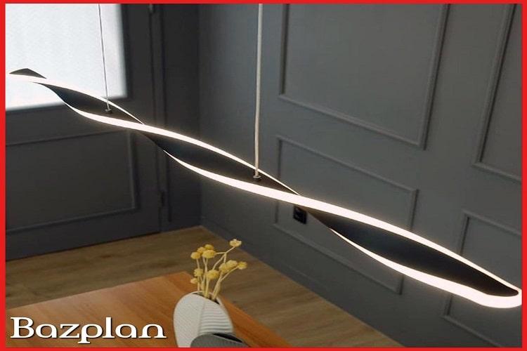 Dekoratif sarmal lineer led aydınlatma armatürü 4-min