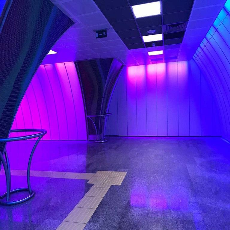 m6 boğaziçi levent metrosu aydınlatma ışığı hangi armatür