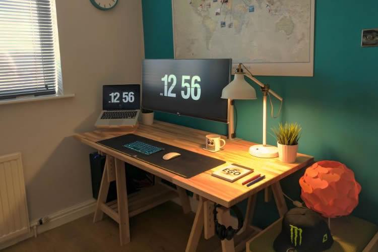 Çalışma masası aydınlatma örnekleri