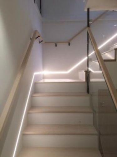 Bazplan iç mekan gömme led merdiven led aydınlatma 1