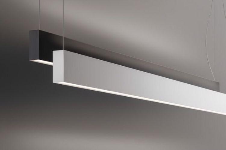 İç mekan linear led aydınlatma modelleri - beyaz - siyah kasa