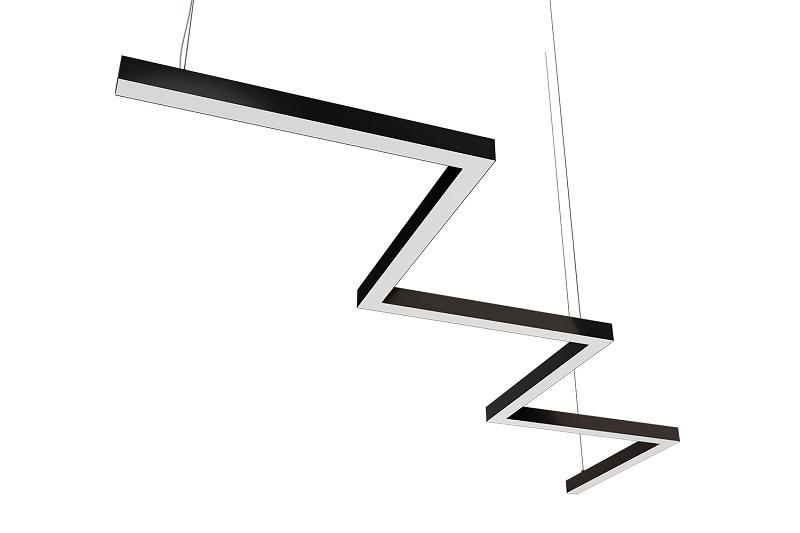 Kıvrımlı Z - M tipi dekoratif linear led aydınlatma