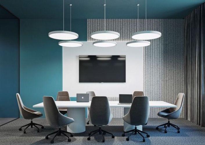 Ofis Toplantı Salonu Dekoratif Aydınlatma