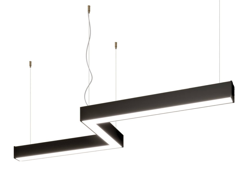 Z tipi dekoratif linear led aydınlatma bazplan